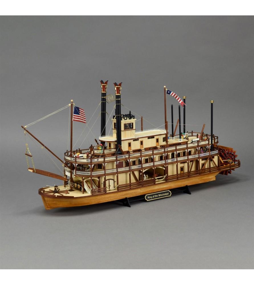 Maqueta de Barco de Vapor en Madera: Nuevo Rey del Mississippi II 1/80