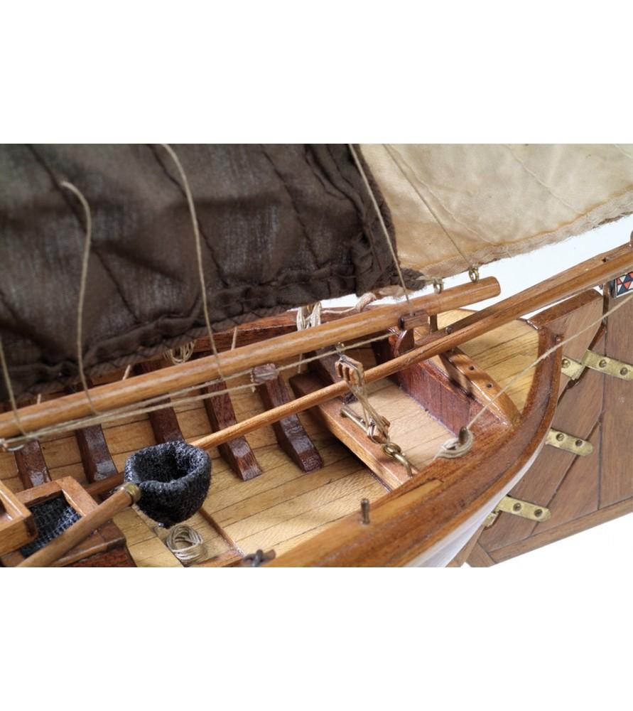 Maquette Bateau en Bois: Bateau de pêche Botter 1/35