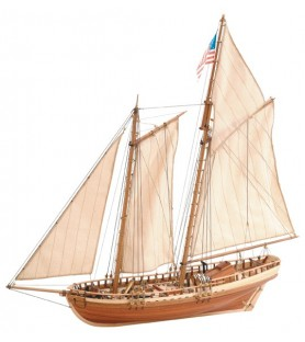 Wooden Model Ship Kit: Virginia American Schooner 1/41