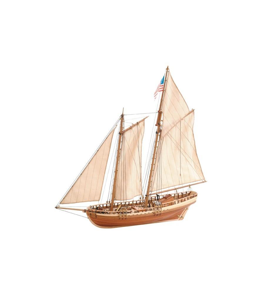 Maqueta de barco en madera: Virginia American schooner