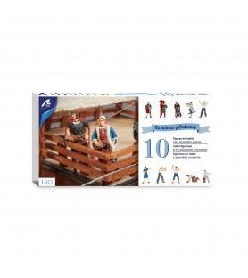 Set of 10 Metal Figurines for Caravels and Galleons