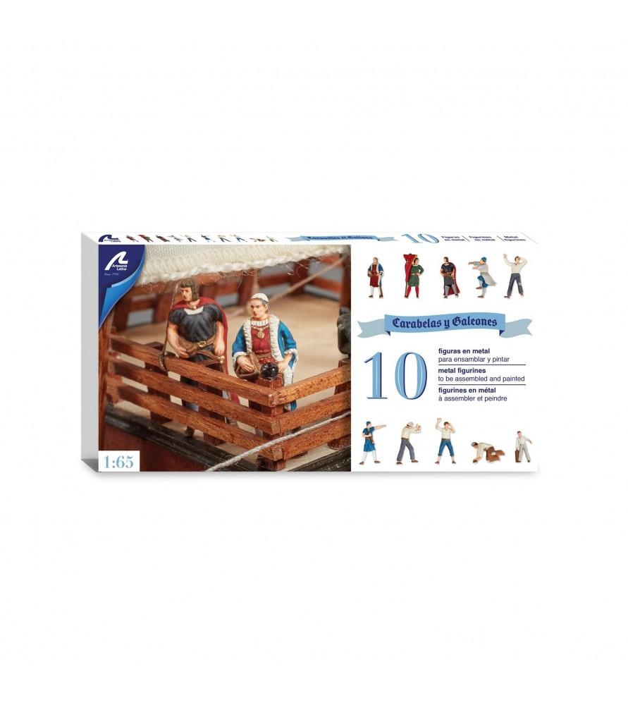 Set de 10 Figuras en Metal: Carabela Santa María