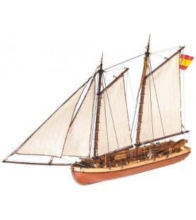 Maqueta en madera: Lancha del Príncipe de Asturias