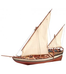 Wooden Model Ship Kit: Sultan Arab Dhow 1/85