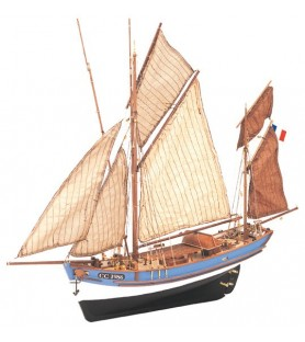 Wooden Model Ship Kit: Marie Jeanne Fishing Boat 1/50
