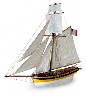 Wooden Model Ship Kit: Le Renard 1/50
