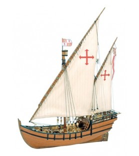 Wooden Model Ship Kit: La Niña Caravel 1/65