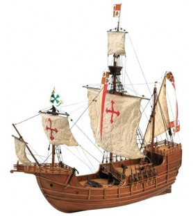 Maqueta de Barco en Madera: Carabela Santa María 1/65