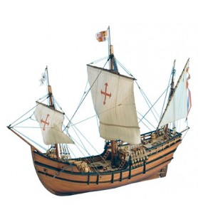Wooden Model Ship: La Pinta Caravel 1/65