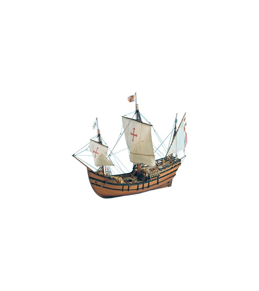 Wooden Model Ship Kit: La Pinta Caravel 1/65