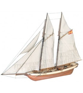Wooden Wooden Model Ship Kit: Mistral Schooner S. XIX 1/60