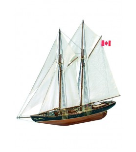 Wooden Model Ship Kit: Canadian Fishing & Regattas Schooner Bluenose II 1/75