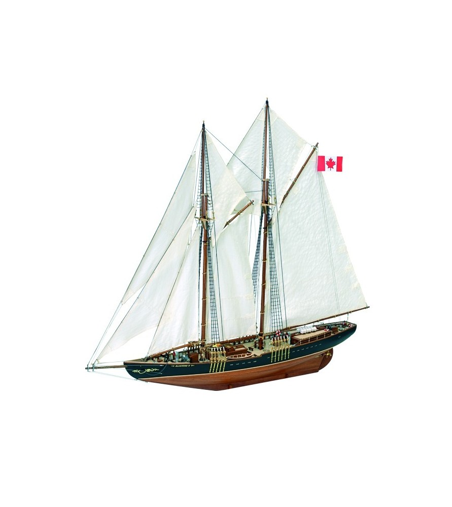 Wooden Model Ship Kit: Canadian Fishing & Regattas Schooner Bluenose II