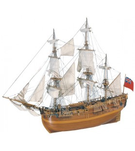 Wooden Model Ship Kit: HMS Endeavour 1/60