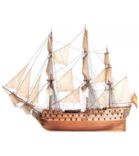 Wooden model ship kit: San Juan Nepomuceno