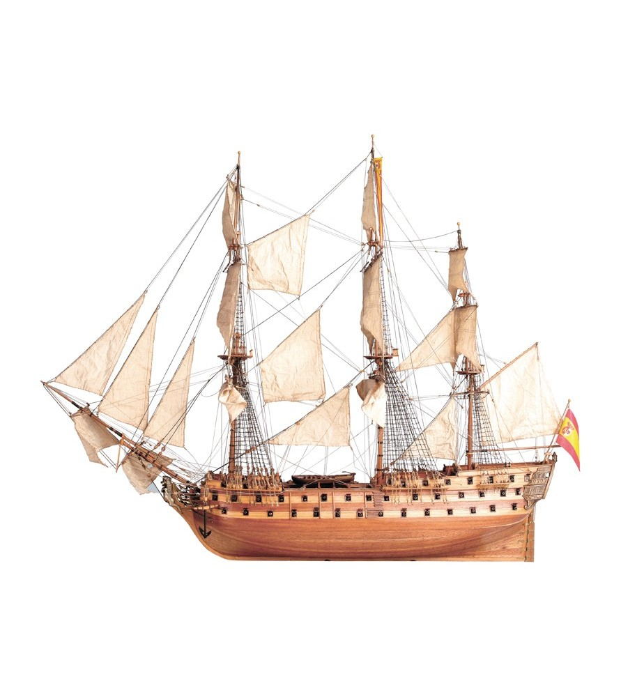 Wooden Model Ship Kit: San Juan Nepomuceno 1/90