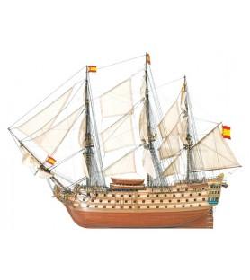 Maqueta de barco en madera: Santa Ana