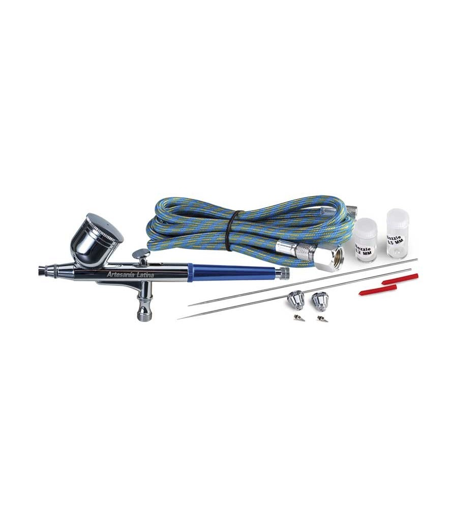 Set with airbrush 27085 + mouthpieces and needles of 0,2-0,3 and 0,5
