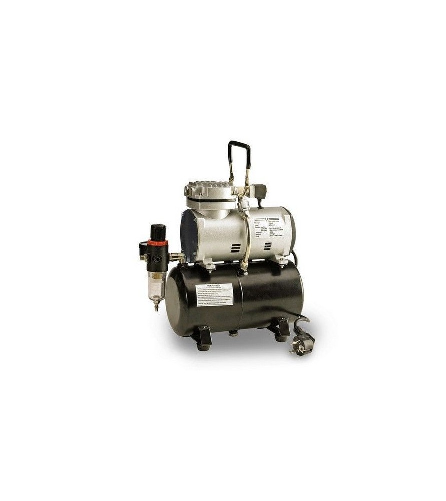 Piston compressor without oil with cylinder