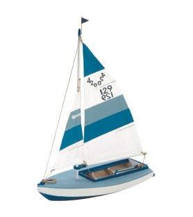 Wooden Model Ship Kit: Sailboat Olympic 420