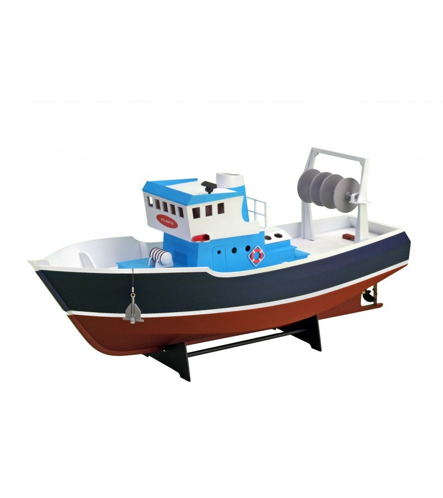 Wooden Model Ship Kit: Tug Fishing Boat Atlantis 1/15