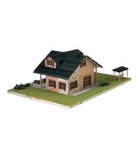 Modern house model kit with swing