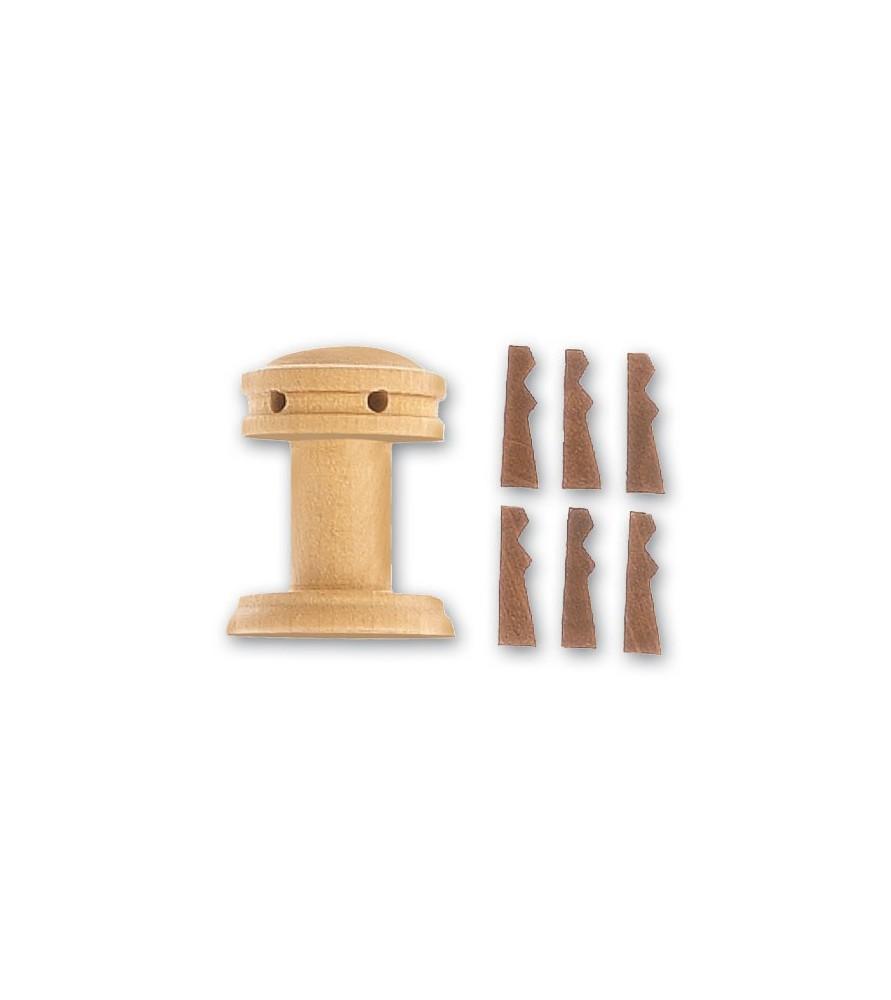 CABESTAN VERTICAL + GUARDAINFANTES 25 mm (1 u)