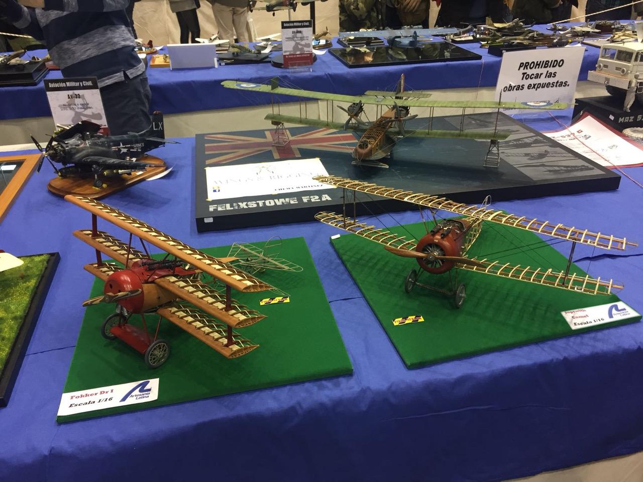 Aircfraft Modeling. Wooden and metal models Fokker Dr. I and Sopwith Camel 1/16.