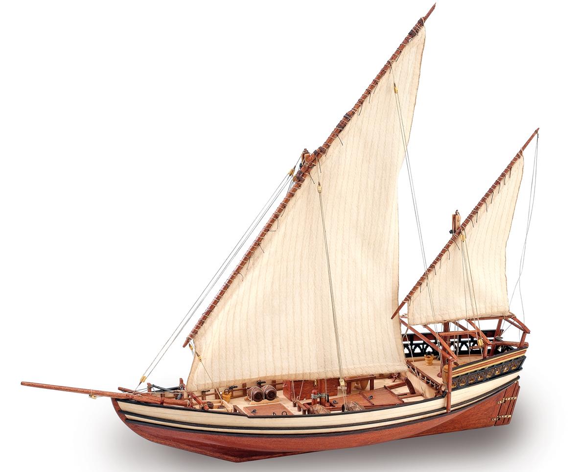 Ship modeling. Wooden Ship Model Arab Dhow Sultan 1/85