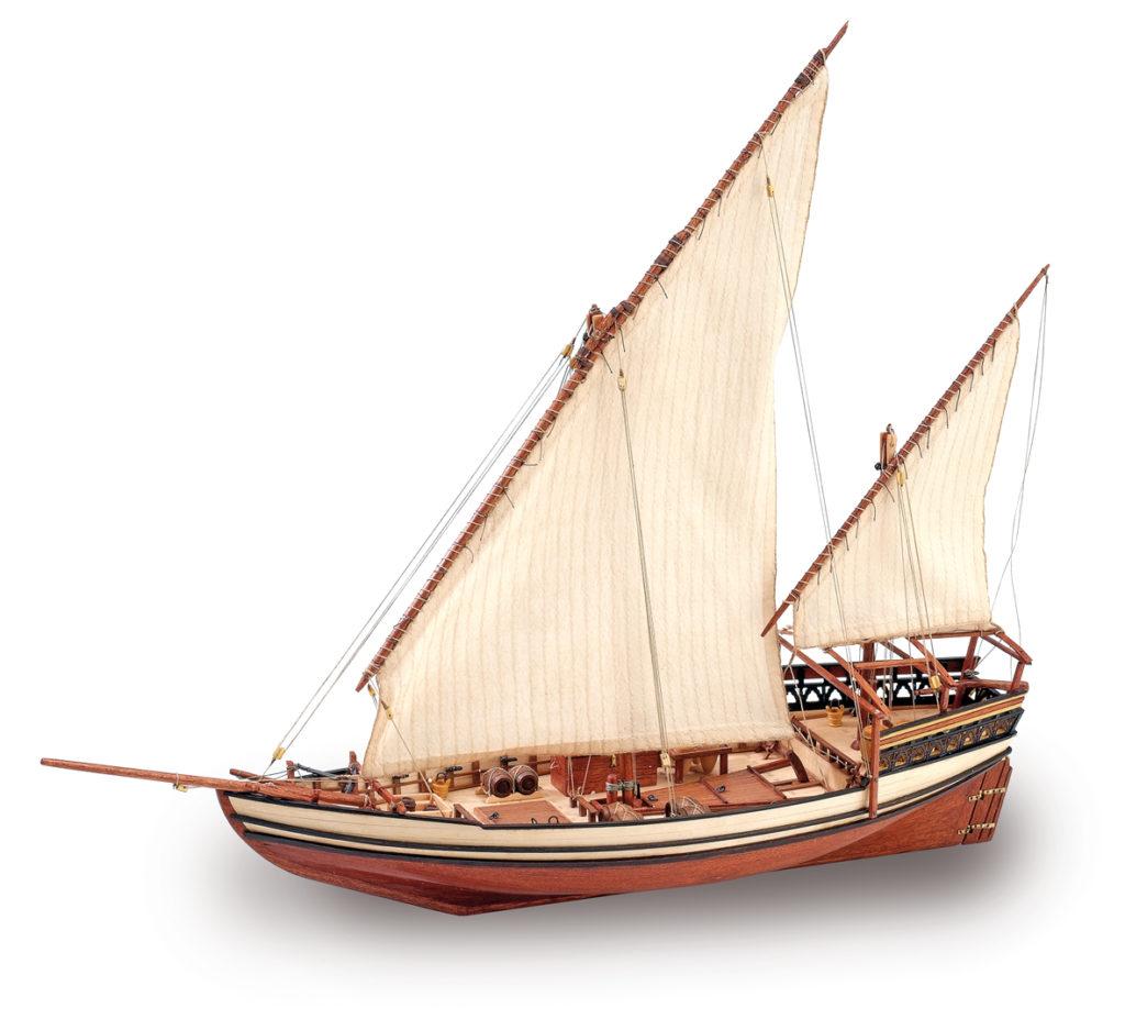 Naval modeling. Wooden Model Ship Kit: Sultan Arab Dhow 1/85 (22165).