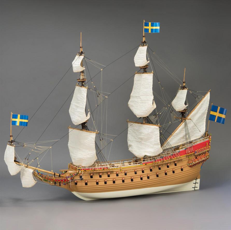 Ship modeling. Wooden Ship Model Swedish Vasa 1/65