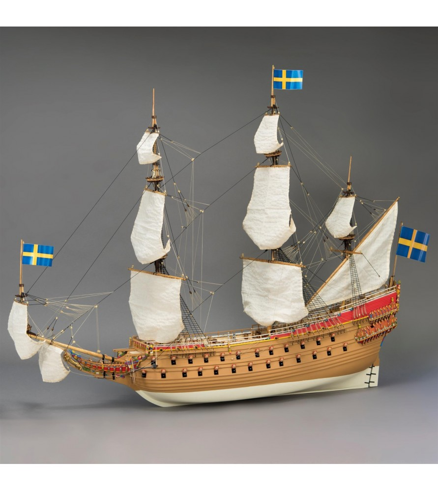 Conozca aquí más de la maqueta en madera del barco sueco Vasa