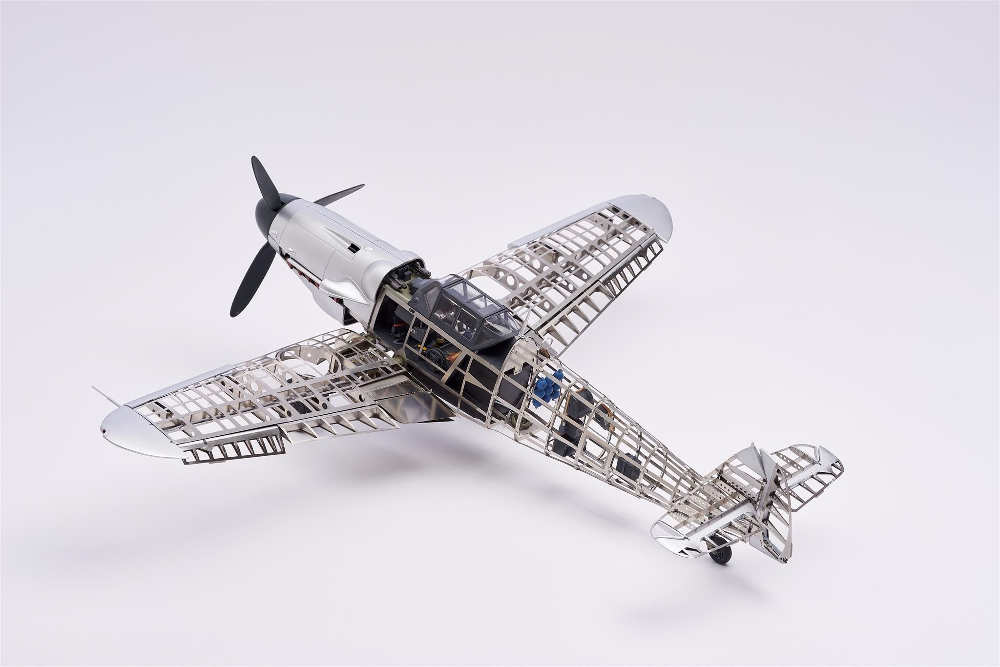 Maqueta del caza alemán Messerschmitt BF109G.