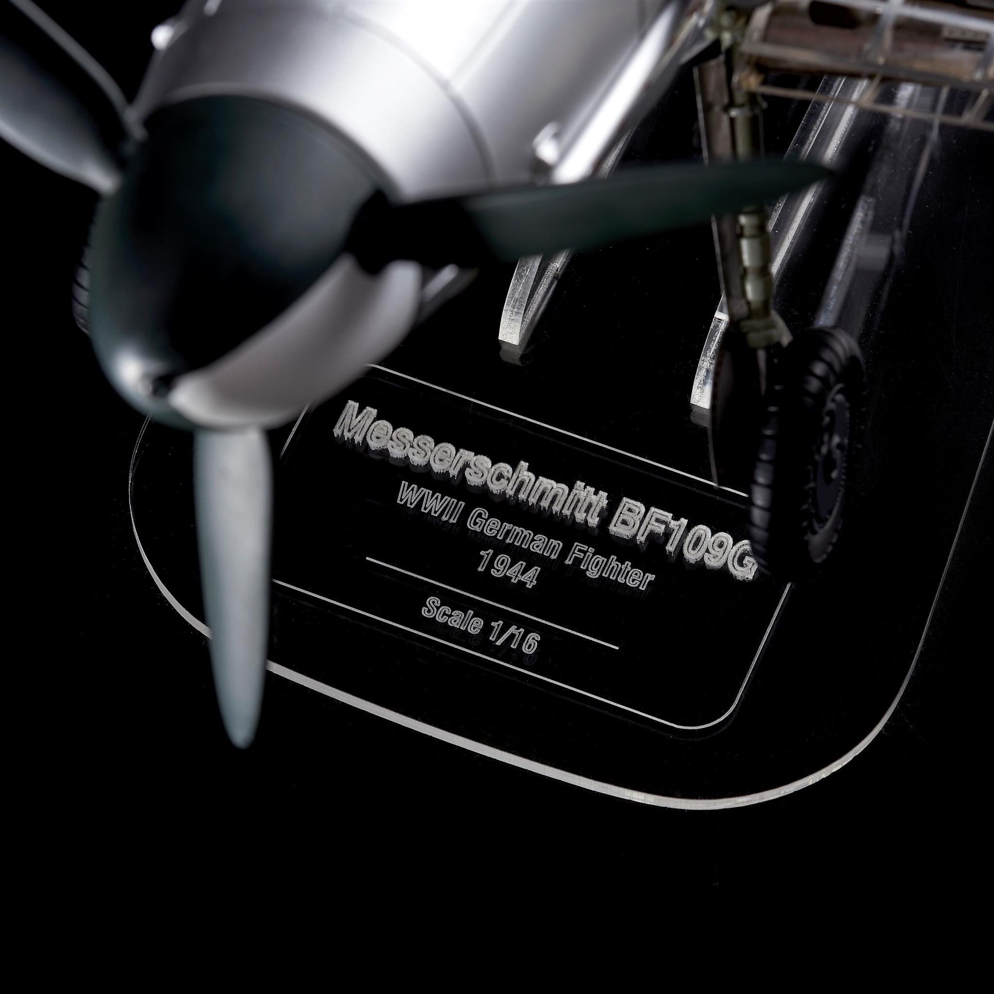 Maqueta del caza alemán Messerschmitt BF 109G.