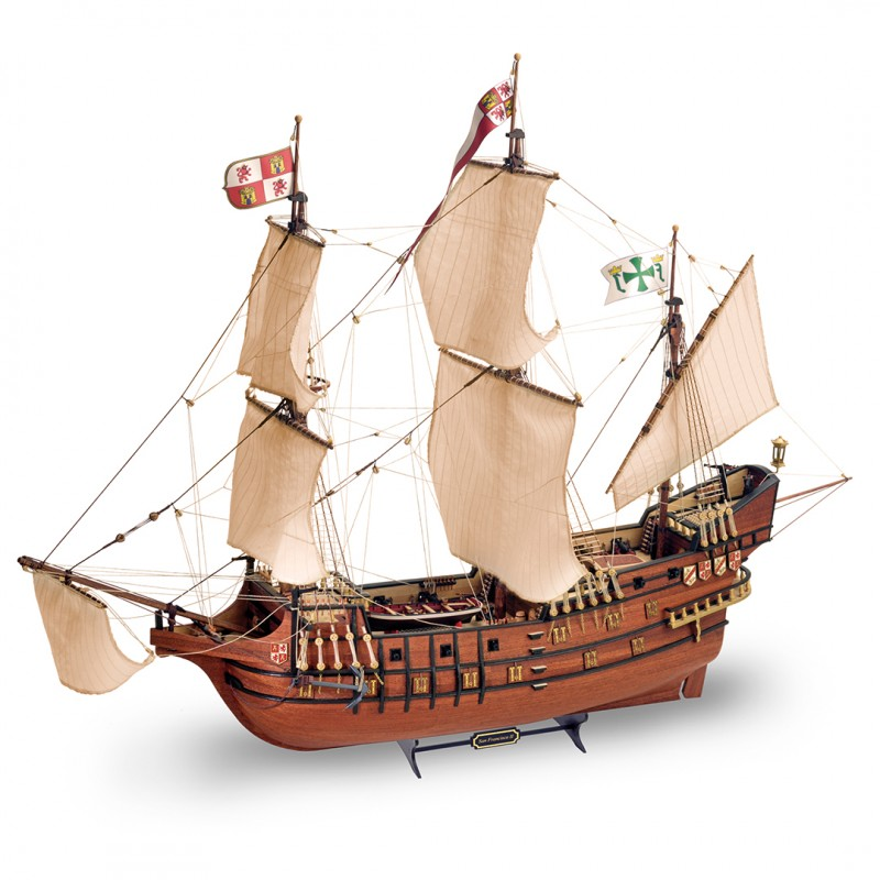 Ship Modeling. Wooden Ship Model Galleon San Francisco II 1/90 (22452N).