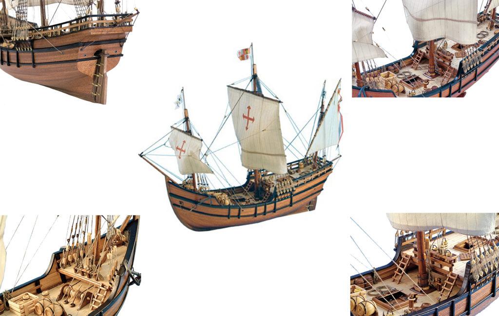Ship Modeling. Wooden Ship Model Caravel La Pinta 1/65 (22412).