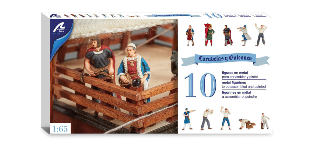 Ship Modeling Accessories. Set of 10 Metal Figures for Caravels and Galleons (22411F).