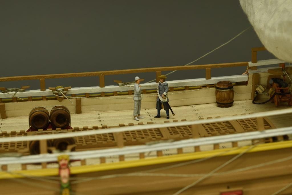 Modelismo naval. Maqueta en Madera Barco de Guerra Sueco Vasa 1/65 incluye figurines en metal.
