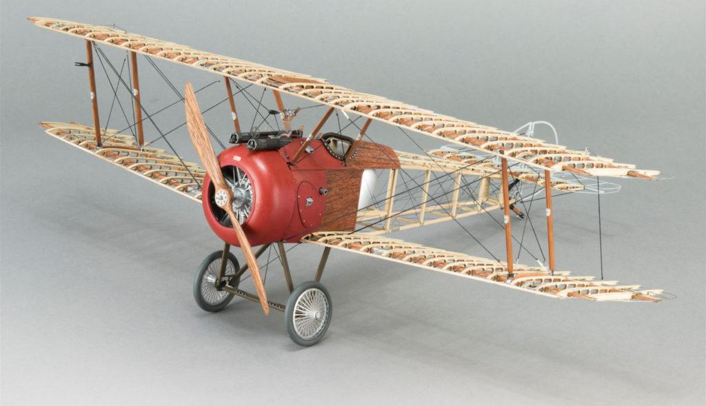 Aircraft modeling. Sopwith Camel 1/16 Metal and Wood Model Kit (20351)