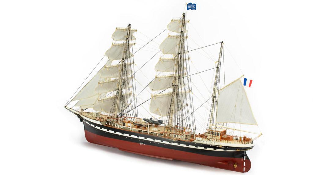 Naval modeling. Wooden Model French Ship Belem 1/75 (22519).