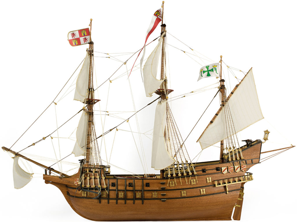 Ship Modeling. Wooden ship model of the Galleon San Francisco II 1/90 (22452N).