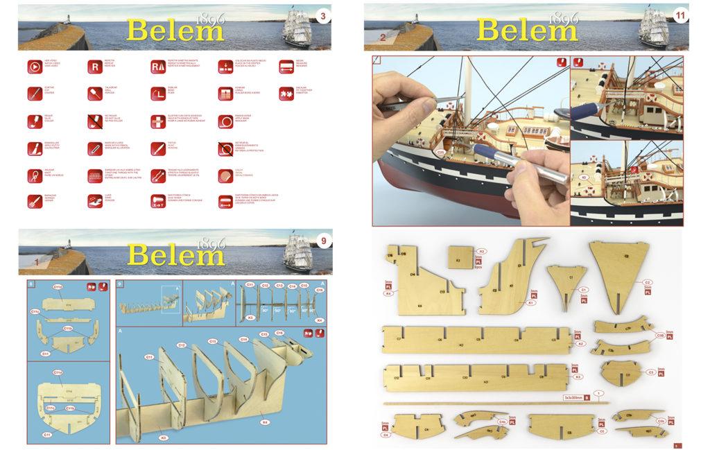 Instructions for the Belem wooden model ship 1/75 (22519).