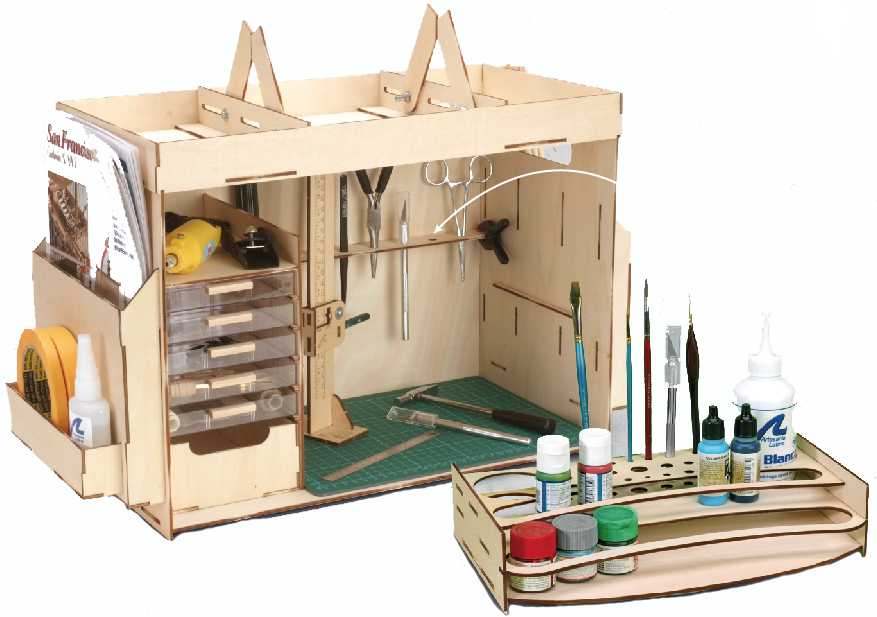 Compact Workshop (27648) and Modeler's Paintings and Tools Organizer (27648P).