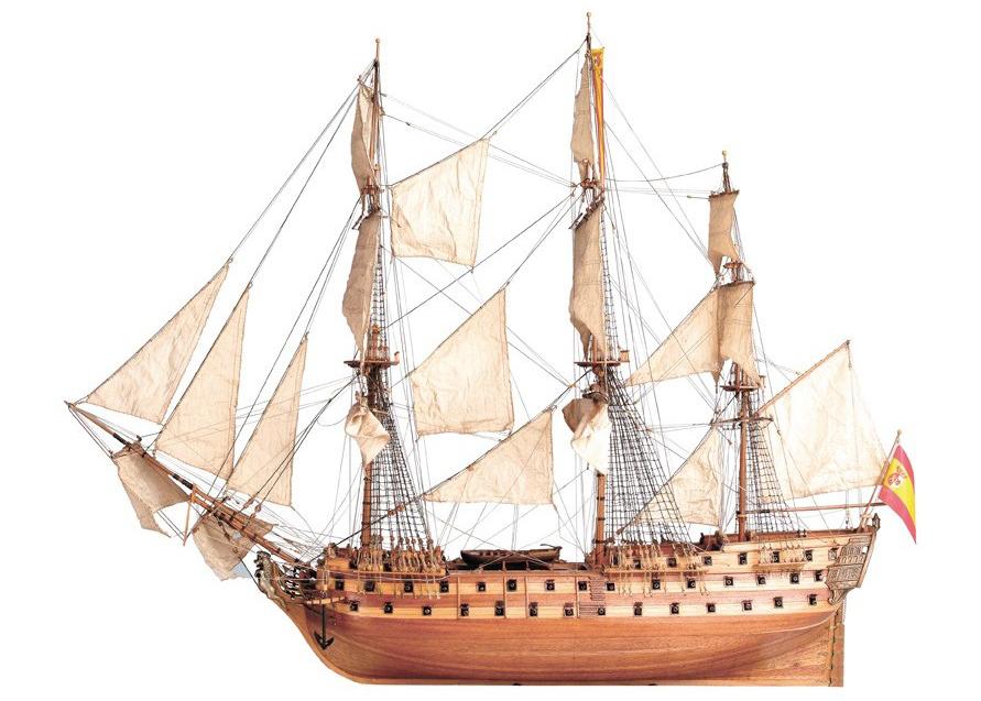 Ship Modeling. Wooden ship model of San Juan Nepomuceno 1/90 (22860).