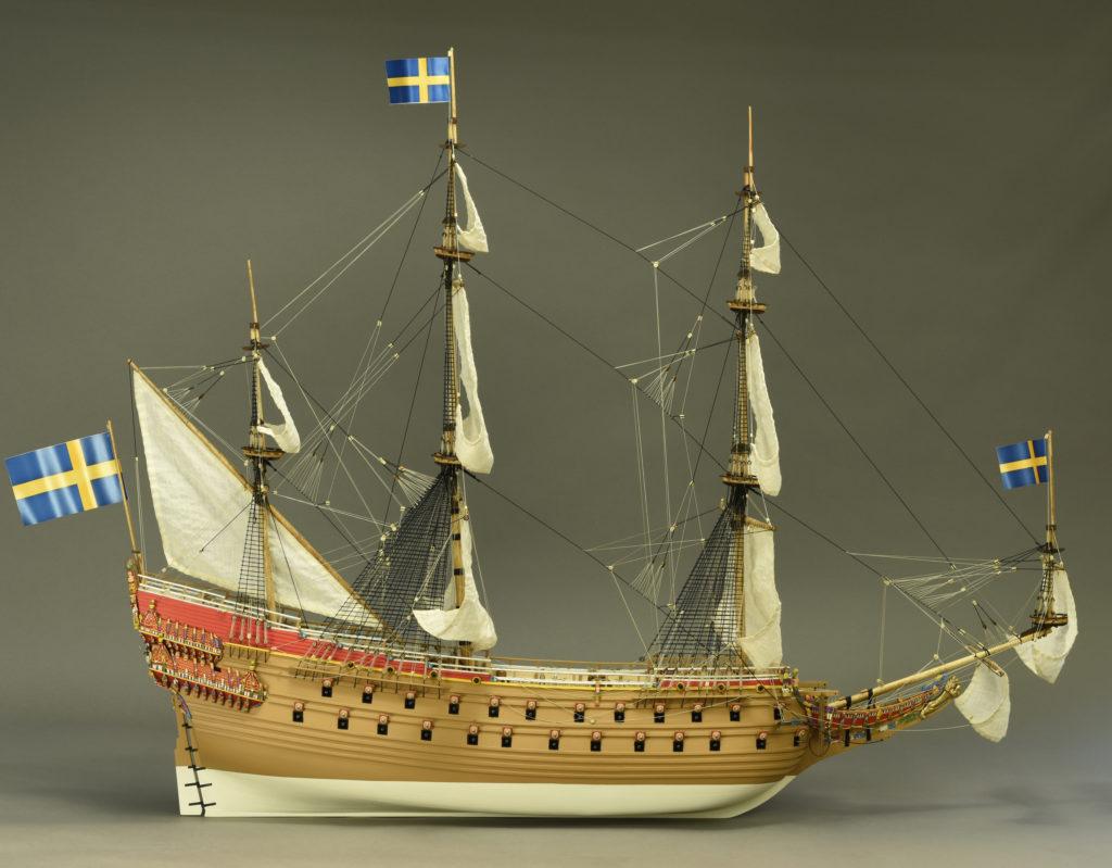 Modelismo naval. Maqueta en Madera Barco de Guerra Sueco Vasa 1/65.