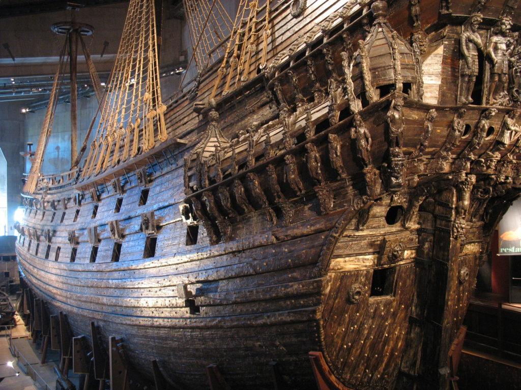 Imagen real del buque sueco, expuesto en el Museo Vasa de Estocolmo.