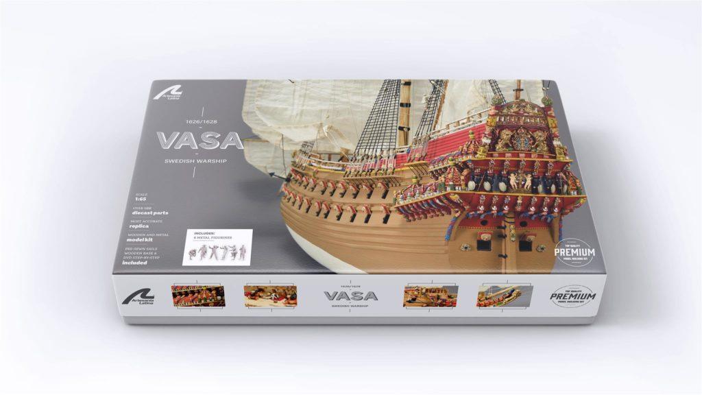 Modelismo naval. Kit de Modelismo del Barco de Guerra Sueco Vasa 1/65.