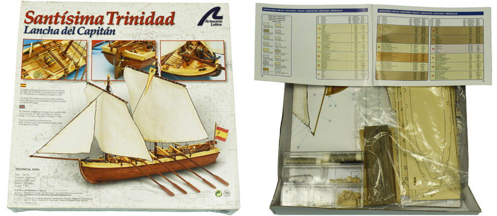 Naval modeling. Wooden Ship Model Captain Boat Santisima Trinidad (19014).