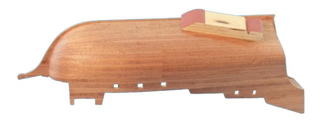 Dans cette image, comment recouvrir coque de navire à partir d'un kit de modélisme naval.
