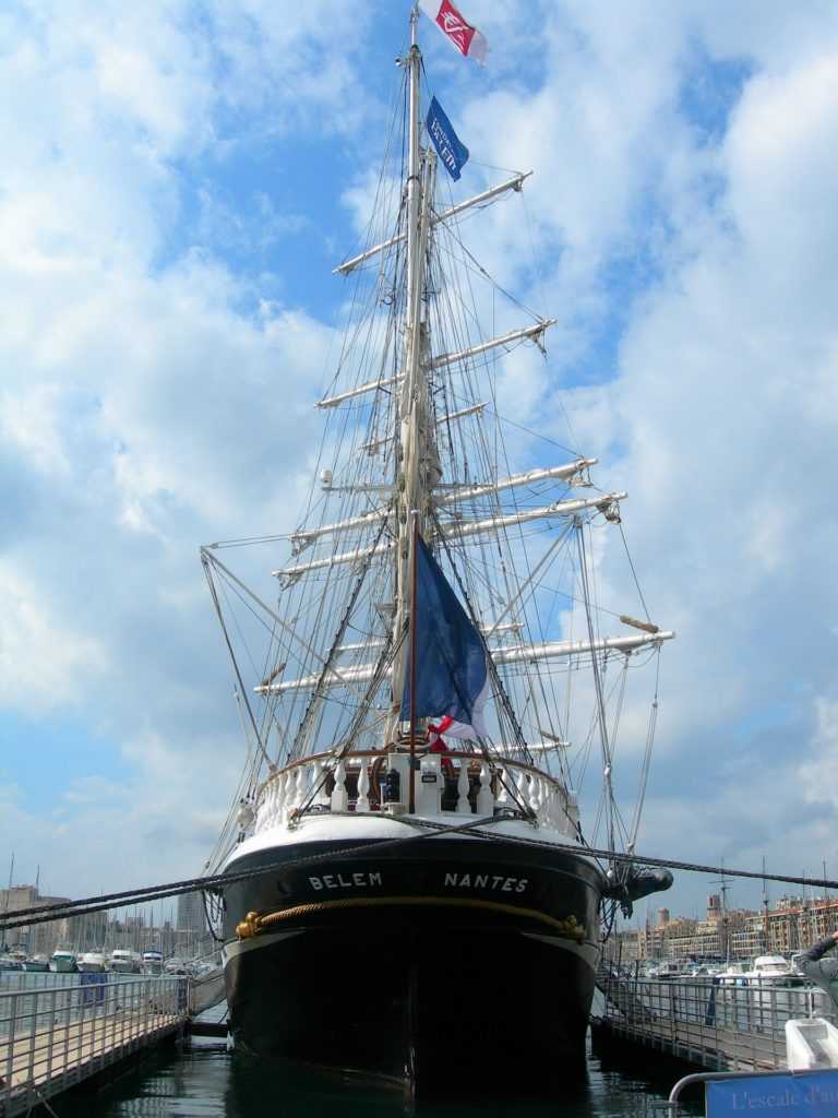 The French Sailboat, Docked in Port.